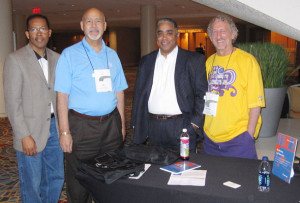National Association of Advisors for the Health Professions (NAAHP) 2012 - Dr. Lawrence Harkless, Dean of Podiatry at Western University; Dr. James Philips, Associate Dean at Baylor College of Medicine; and Gregory Thomas from Florida International University