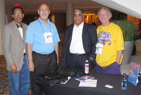 National Association of Advisors for the Health Professions (NAAHP) 2012 – Dr. Lawrence Harkless, Dean of Podiatry at Western University; Dr. James Philips, Associate Dean at Baylor College of Medicine; and Gregory Thomas from Florida International University