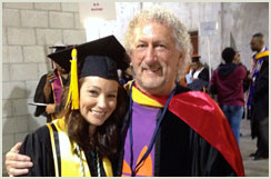 Graduation Day 2013: Cassandra Morrow, biology student at CSUDH & one of Thomas' mentees.