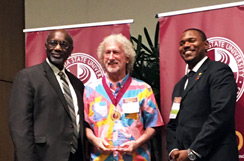 Me with CSUDH President Willie Hagan and ASI President receiving the CSUDH Advisor of the Year Award
